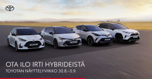 OTA ILO IRTI HYBRIDEISTÄ - TOYOTAN NÄYTTELYVIIKKO 30.8.–5.9. - Auto-Arita Oy